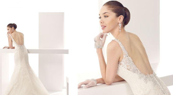 Sırt Dekolteli ve Sırtı Açık Dantelli Gelinlik Modelleri 2016