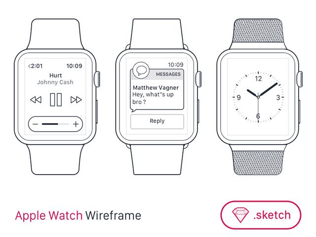 12 best free wireframe templates images on pinterest wireframe free apple watch wireframe template for sketch titanui pronofoot35fo Choice Image