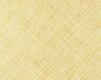 Crosshatch in Curry by Carolyn Friedlander - 1/2 Yard - Architextures Yellow Fabric -  Robert Kaufman - Grid Print Fabric Mustard Fabric