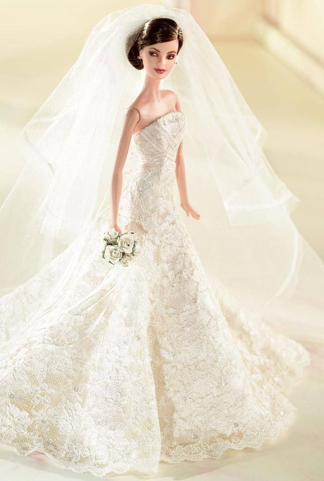 barbie bride wedding brides carolina herrera barbie dolls herrera