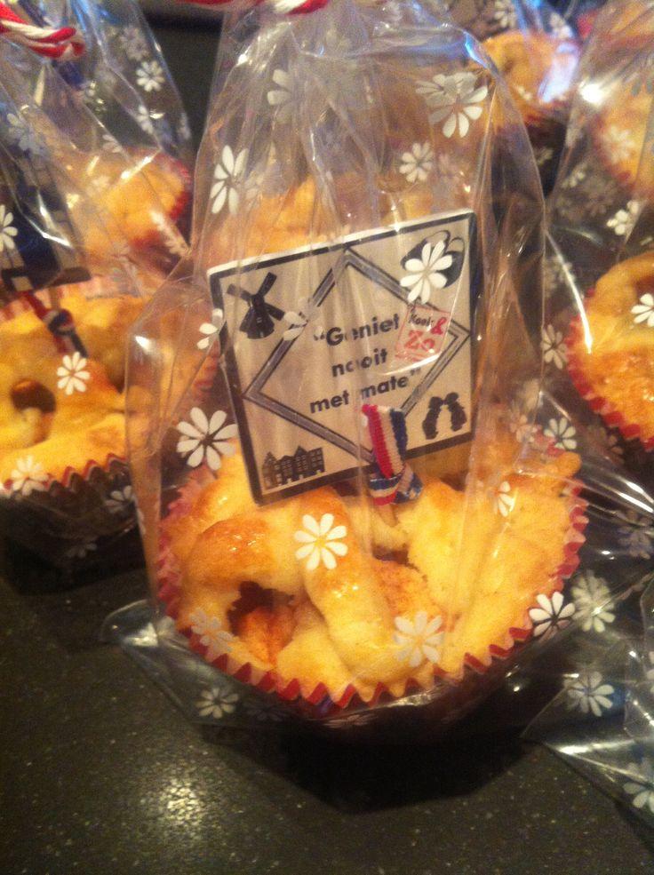 Traktatie: appeltaart in een cupcakevormpje
