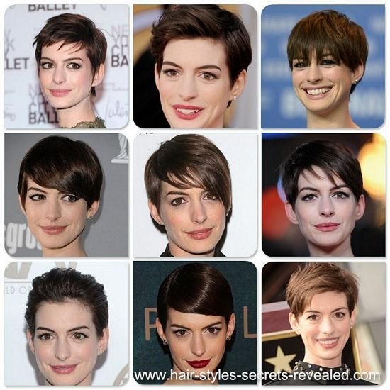 Anne Hathaway With Short Hair << I had the hairstyle before but I wanna try again.