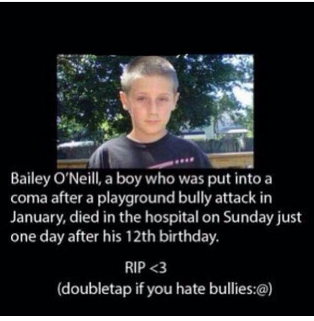 Please stop bullying people What do you gain from this? Do you never feel the slightest bit of guilt for ruining someone's life everyday to the point of them wanting to take their own life Why can't you just be nice to each other Why do you have to judge people or make fun of them or beat them up In the end You're the one who's pathetic I love all of you Please talk to me if you're bullied I would love to at least try to help