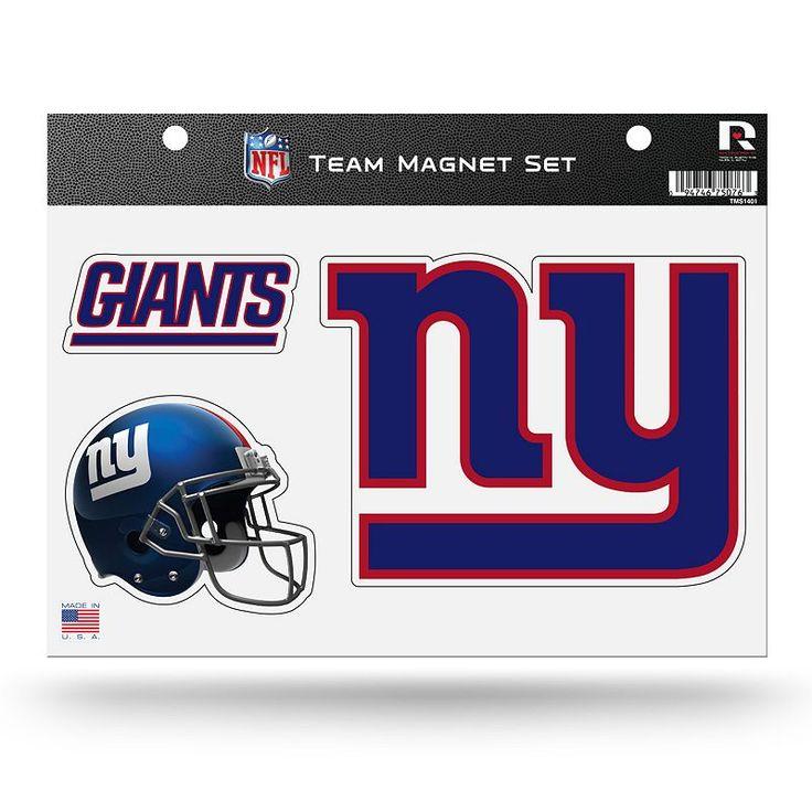 New York Giants Team Magnet Set, Multicolor