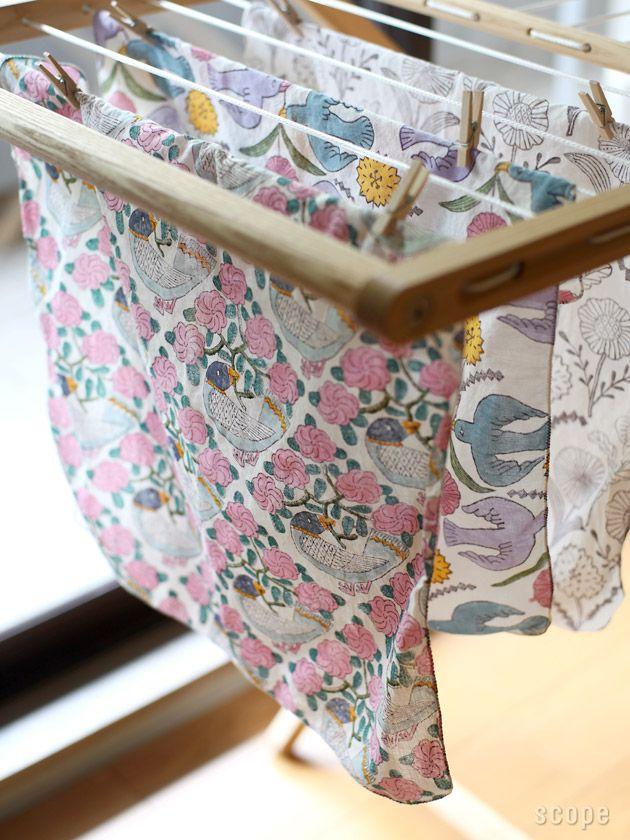 鹿児島 睦 (かごしま まこと) / ハンカチ Block print cotton hankies made in Japan - by Makoto Kagoshima