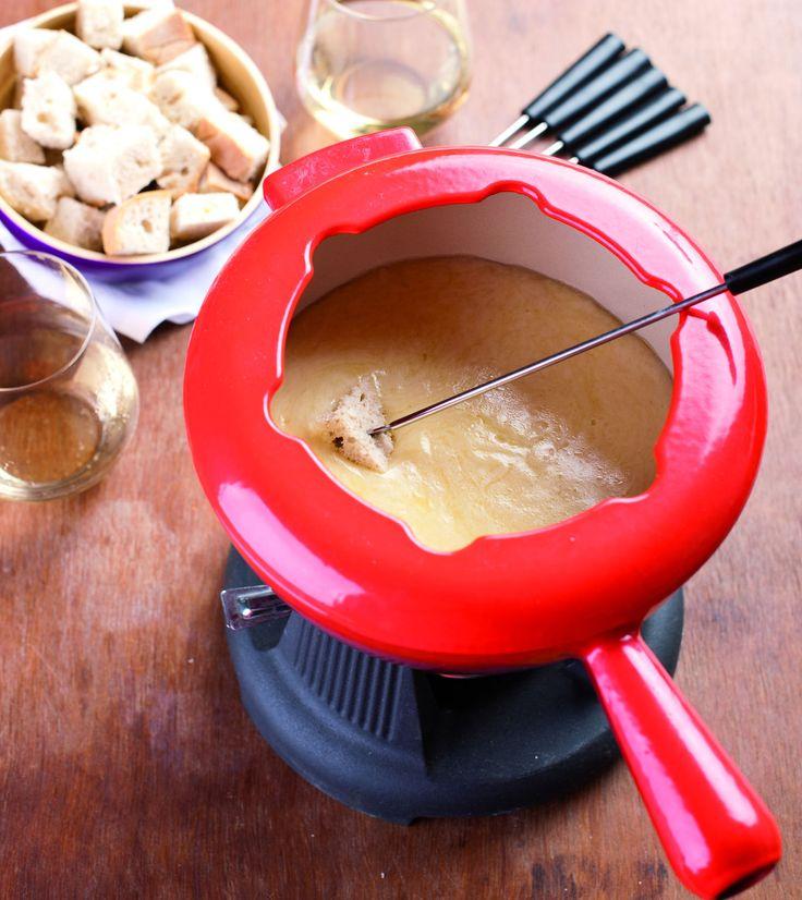 Classic Swiss Fondue #swiss  #fondue #Blue #souffles #Thermomix #cheese #curated #meats #charcutterie #salami #plate #appetizer #finger #foods #Dip #sauce #yum #gourmet