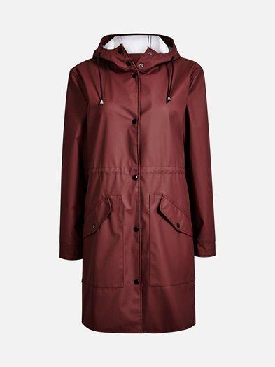 Yr raincoat | | Viininpunainen | BikBok | Suomi