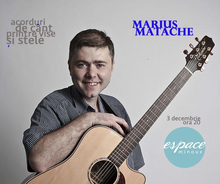 Miercuri, 3 decembrie, primul concert total neamplificat. Espace Minoux, Bucuresti, ora 19:30. Detalii in articolul de aici http://www.mariusmatache.ro/surpriza-espace-minoux/