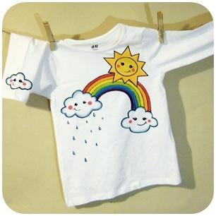 Sun, rainbow and clouds...