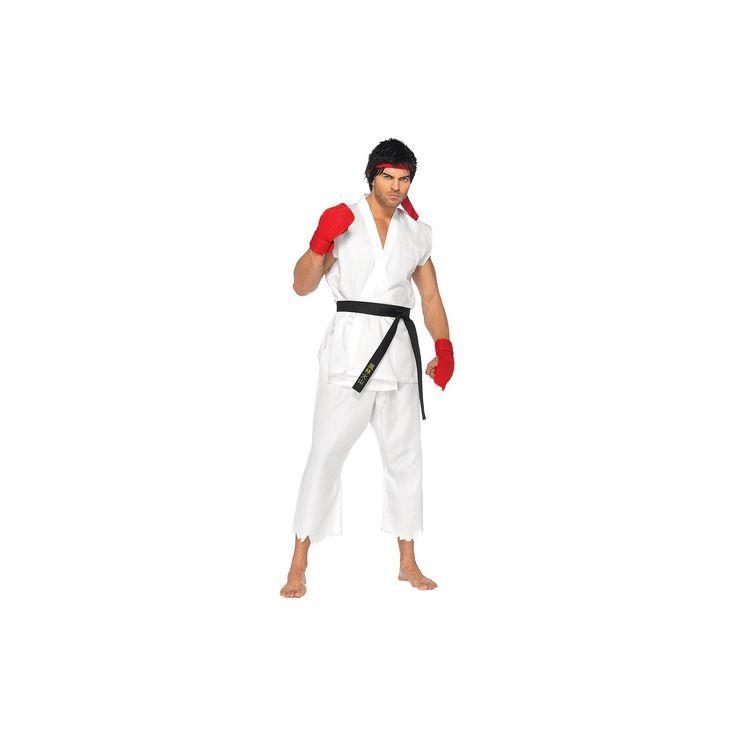 Halloween Men's Street Fighter Ryu Adult Costume - (S/M), White