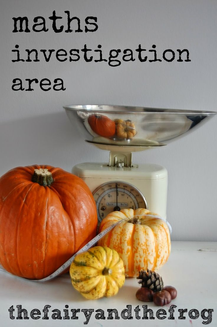 DIY maths investigation area. An easy to put together math area/ center. Great for building early maths concepts of weight and size.
