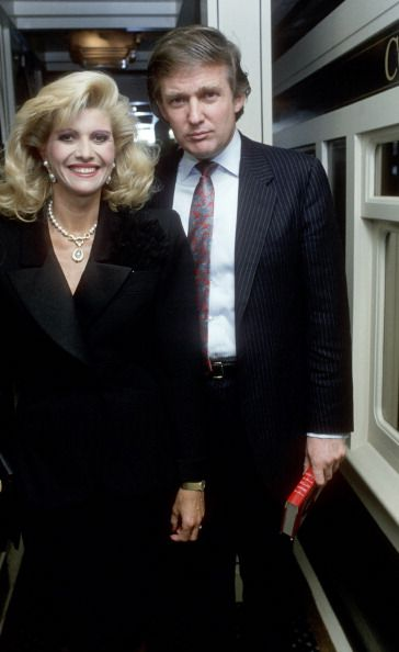 Ivana Trump and Donald Trump during Shirley Lord's Party at Bloomingdale's in New York City New York United States