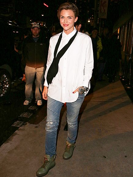 Star Tracks: Monday, September 14, 2015 | COMING UP ROSES | Orange Is the New Black's Ruby Rose opts for a semi-casual outfit as she leaves a Toronto International Film Festival afterparty on Sunday.