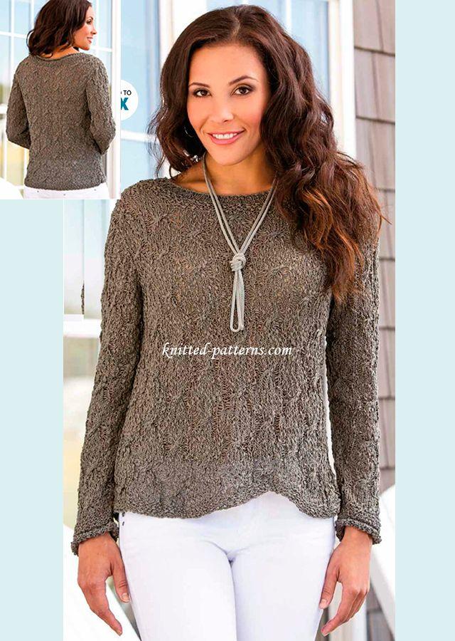 Knitting Pattern Crossover Cardigan : 2313 best Hekel /Brei - Tops images on Pinterest Crochet tops, Knit crochet...