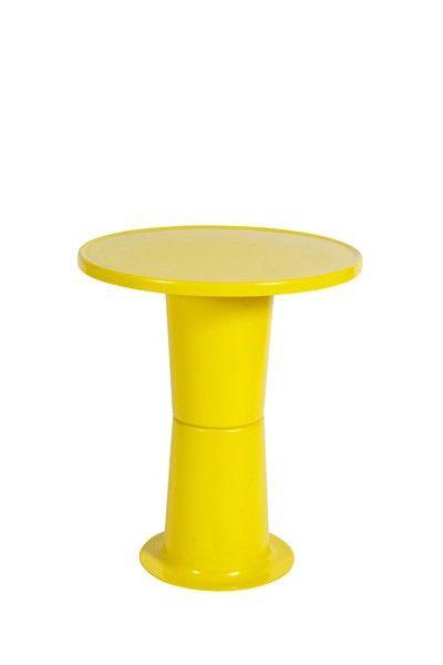 Yrjö Kukkapuro; Lacquered Fiberglass 'Saturnus' Occasional Table, 1965.