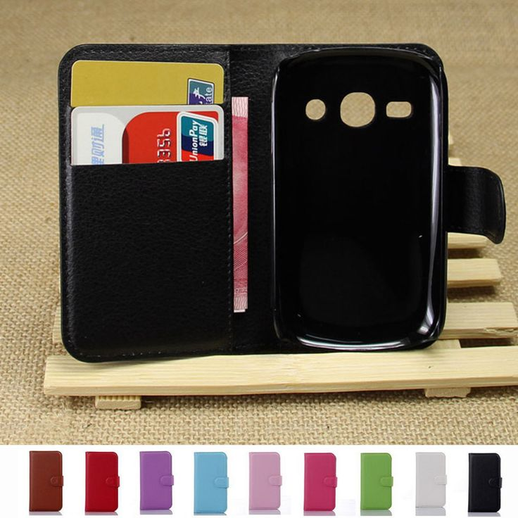 PU Leather Pink Case For Samsung Galaxy Fame S6810 6810  Flip Stand Cover Wallet with Magnetic Closure Full-Body Protect New