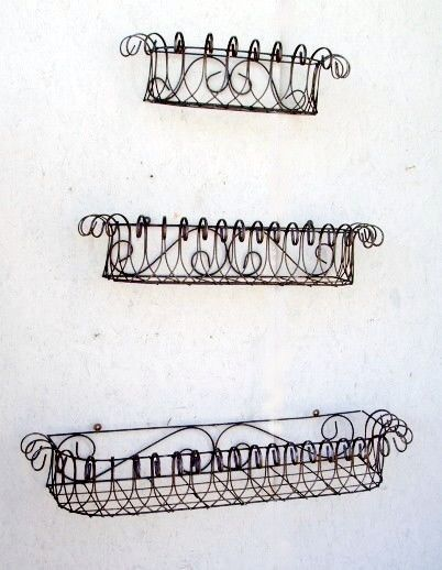36 w of 4 Sizes - Several Colors Metal Window Boxes Wrought Iron Wall Planter  sc 1 st  Pinterest & Best 25+ Wrought iron window boxes ideas on Pinterest   Window ... Aboutintivar.Com