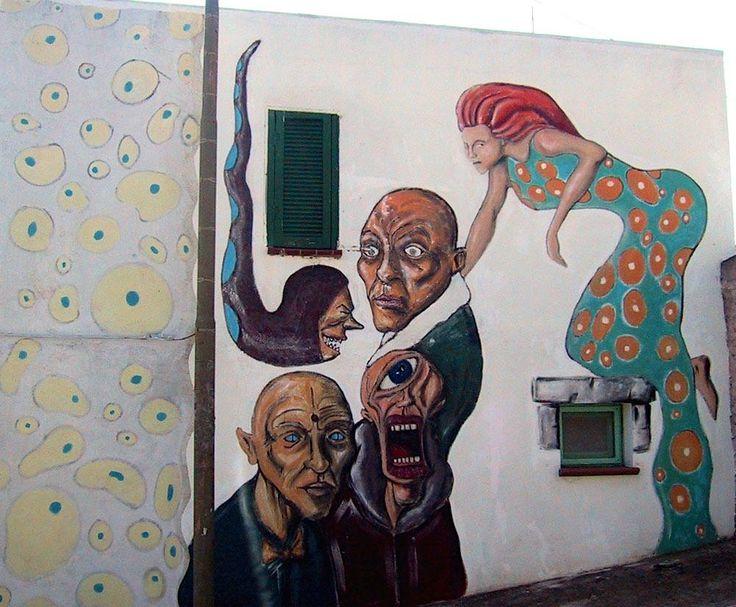 Mural in Triei, #Ogliastra #Sardinia