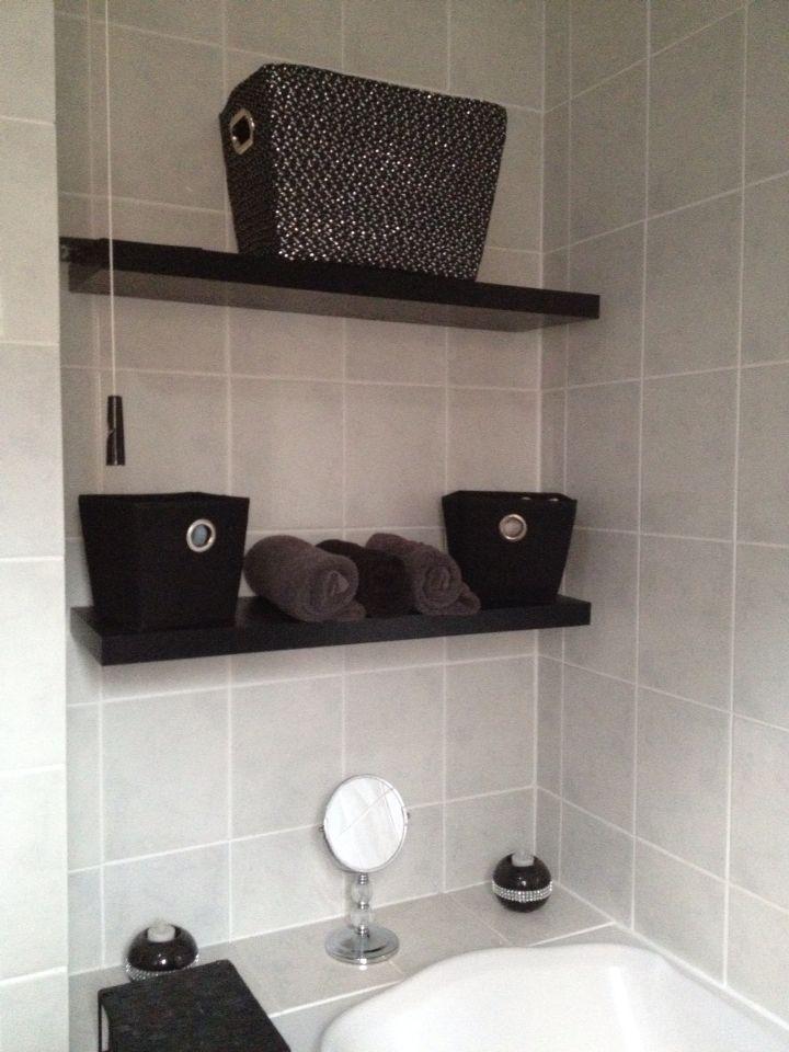 Small bathroom storage Monochrome bathroom Bling