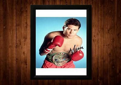 Julio cesar #chavez signed framed pp a4 #print #boxer boxing gift ideas vintage,  View more on the LINK: http://www.zeppy.io/product/gb/2/261260541420/