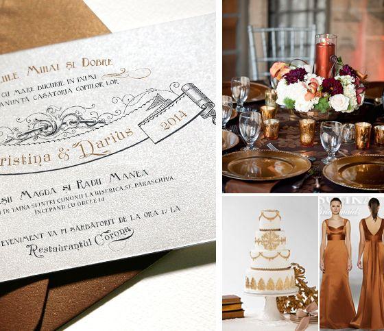 Invitații de lux pentru nuntă cu temă medievală - yorkdeco.ro