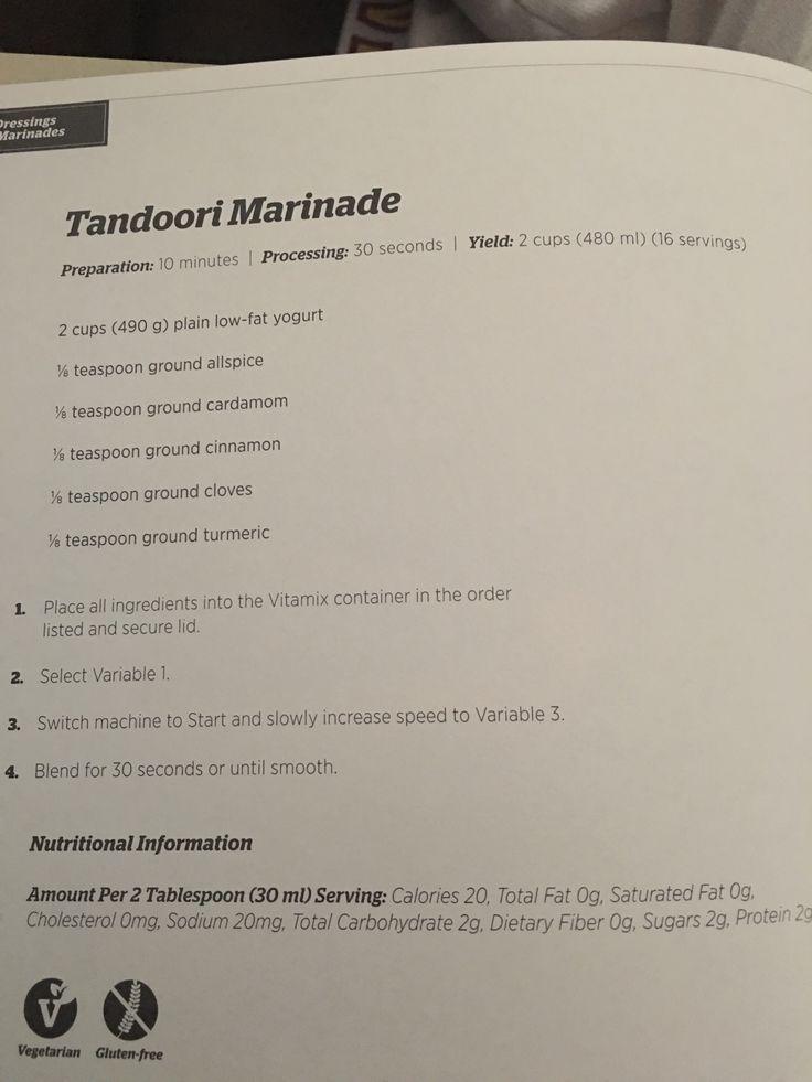 Tandoori marinade