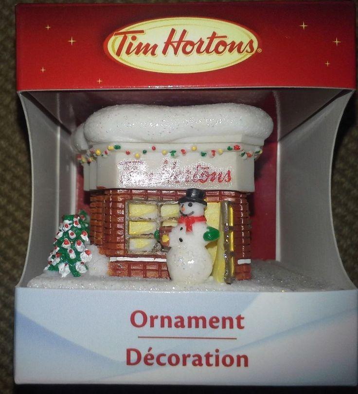 Tim Horton's Christmas Tree Ornament NEW, NRFB, Tim Horton Store, 2012