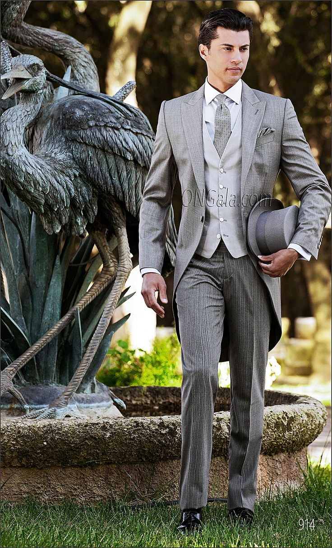 Abito da cerimonia uomo Giacca Tight in misto lana grigio chiaro Morning Dress with Jacket in Light Grey Wool Blend Traje para novio con Levita chaqué en mixto lana gris claro
