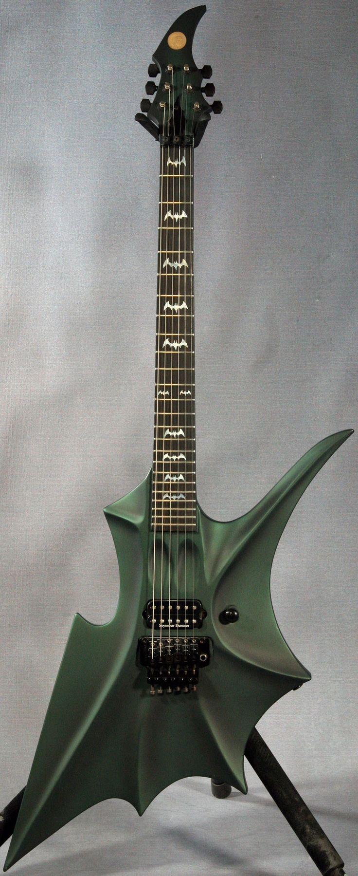 Dovetail template printable guitar - Ed Roman Abstract Rockingbat Guitar If Batman Played Guitar This Would Be It