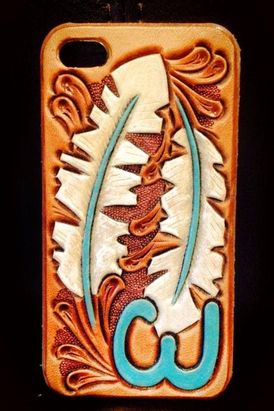 huge selection of b2a52 3668d Custom hand tooled leather iPhone cases. | CDK Leather | Fort Worth ...