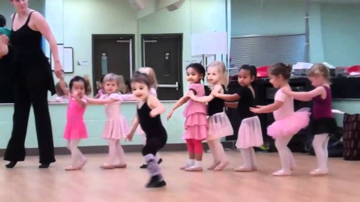 An adorable Toddler's Dance Class