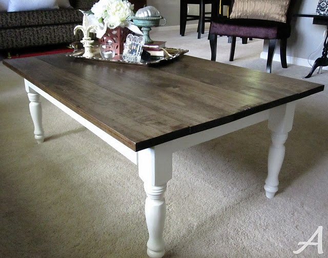 Make Your Own Coffee Table And Dining Table This Is Exactly The