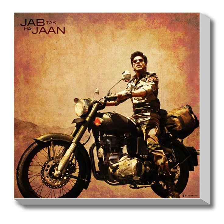 #GABAMBO. Jab Tak Hai Jaan, Shahrukh Stretched Canvas Art.  #Bollywood #Canvasart #SRK .  Available at www.gabambo.com