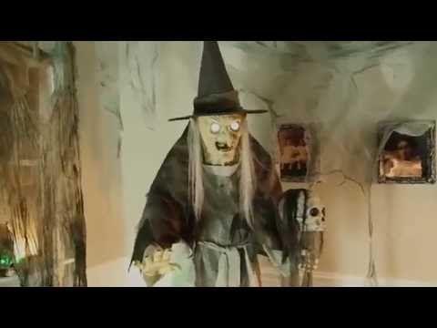 lunging haggard witch animated halloween prop hauntersdepotcom - Halloween Props 2016