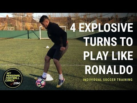 Individual Soccer Training - 4 explosive turns to play like Ronaldo - My Personal Football Coach