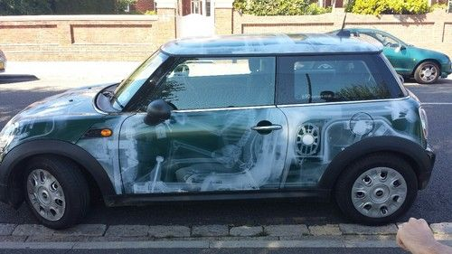 Xray Mini Cooper Vinyl Decal Covering The Entire Car