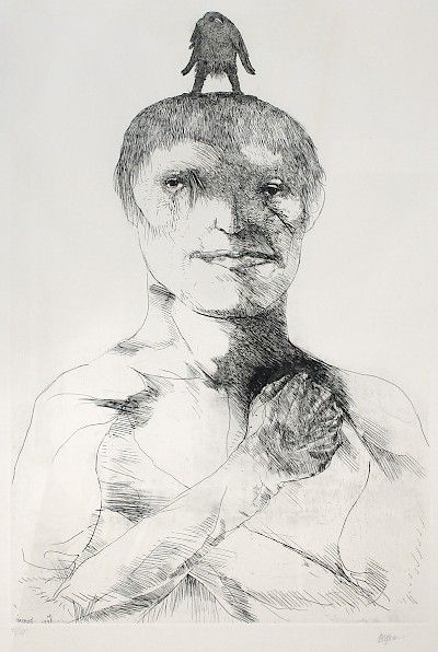 Leonard Baskin : Embattled Youth at Davidson Galleries