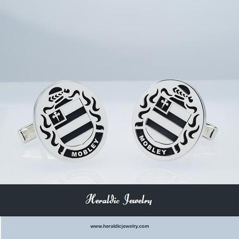 Mobley family crest cufflinks