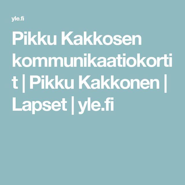 Pikku Kakkosen kommunikaatiokortit   Pikku Kakkonen   Lapset   yle.fi
