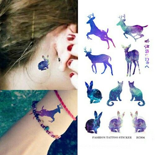 Tattoo animal colour cute small