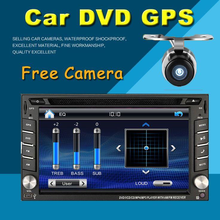 2 din mobil dvd player GPS USB universal car radio audio auto sensor parkir mobil stereo dalam dash Bluetooth Gratis peta + Kamera Untuk VW