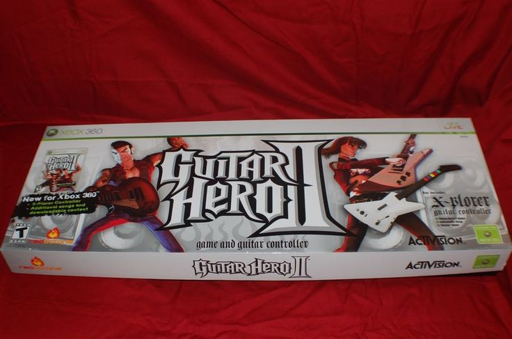 Xbox 360 Wired Red Octane White Guitar Hero II X-Plorer Controller *No Game CD* #RedOctane