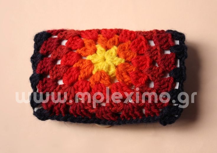 crocheted tobacco case