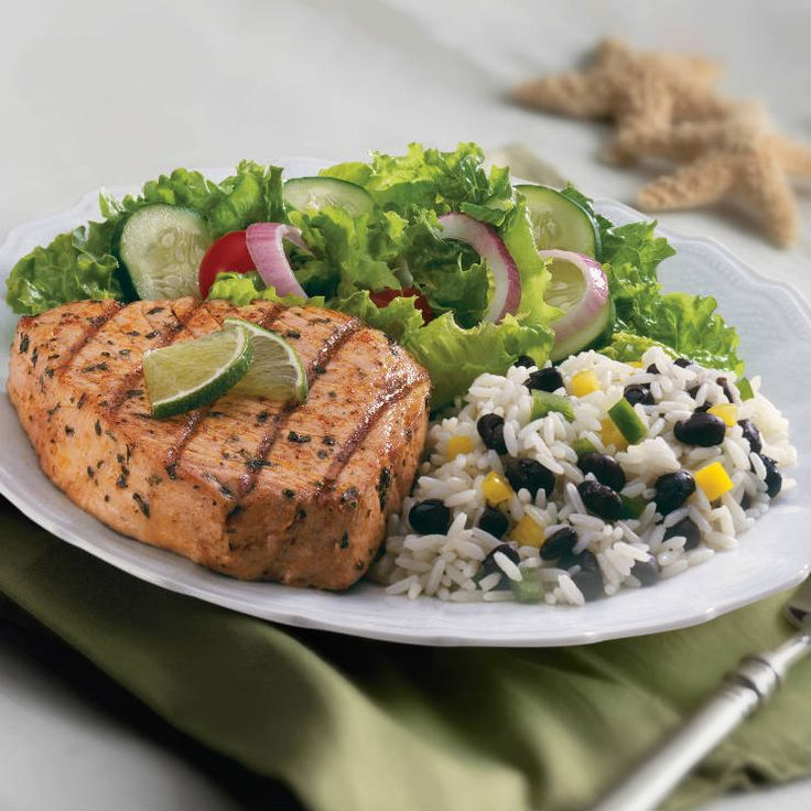 Grilled tuna gets spicy flavor from Grill Mates® Chipotle Pepper ...