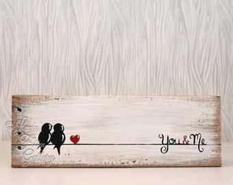 Signos de madera rústico amor regalo muestra de madera amor