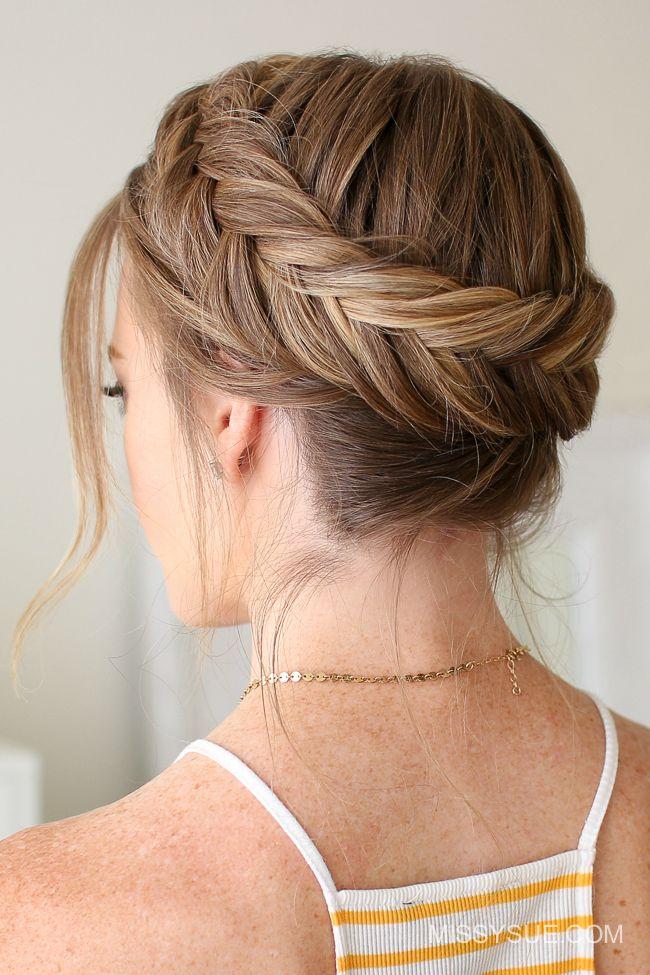 3 autumn fishtail braids