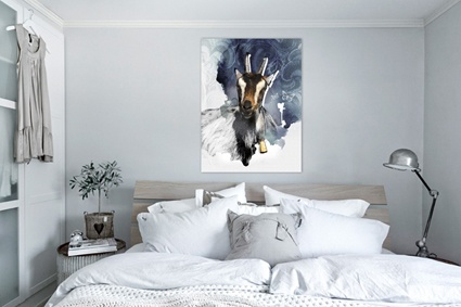 Bukken Gorm. Goat from Langedrag in Norway. By Happy Home Wall