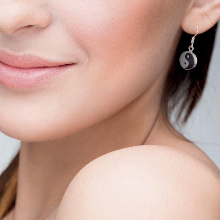 Boucles d'oreille Yin & Yang - Bijoux Magnétiques