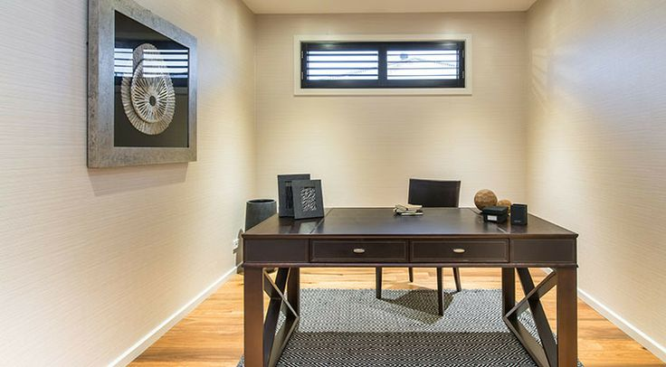 This elegant home office is practical and stylish. #weeksbuilding #study #homeoffice