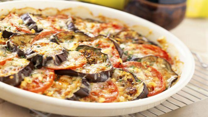 Vegetarisch: Zucchini-Auberginen-Auflauf mit Ziegenkäse